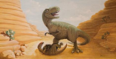 dinosaur_oiloncanvasboard_small